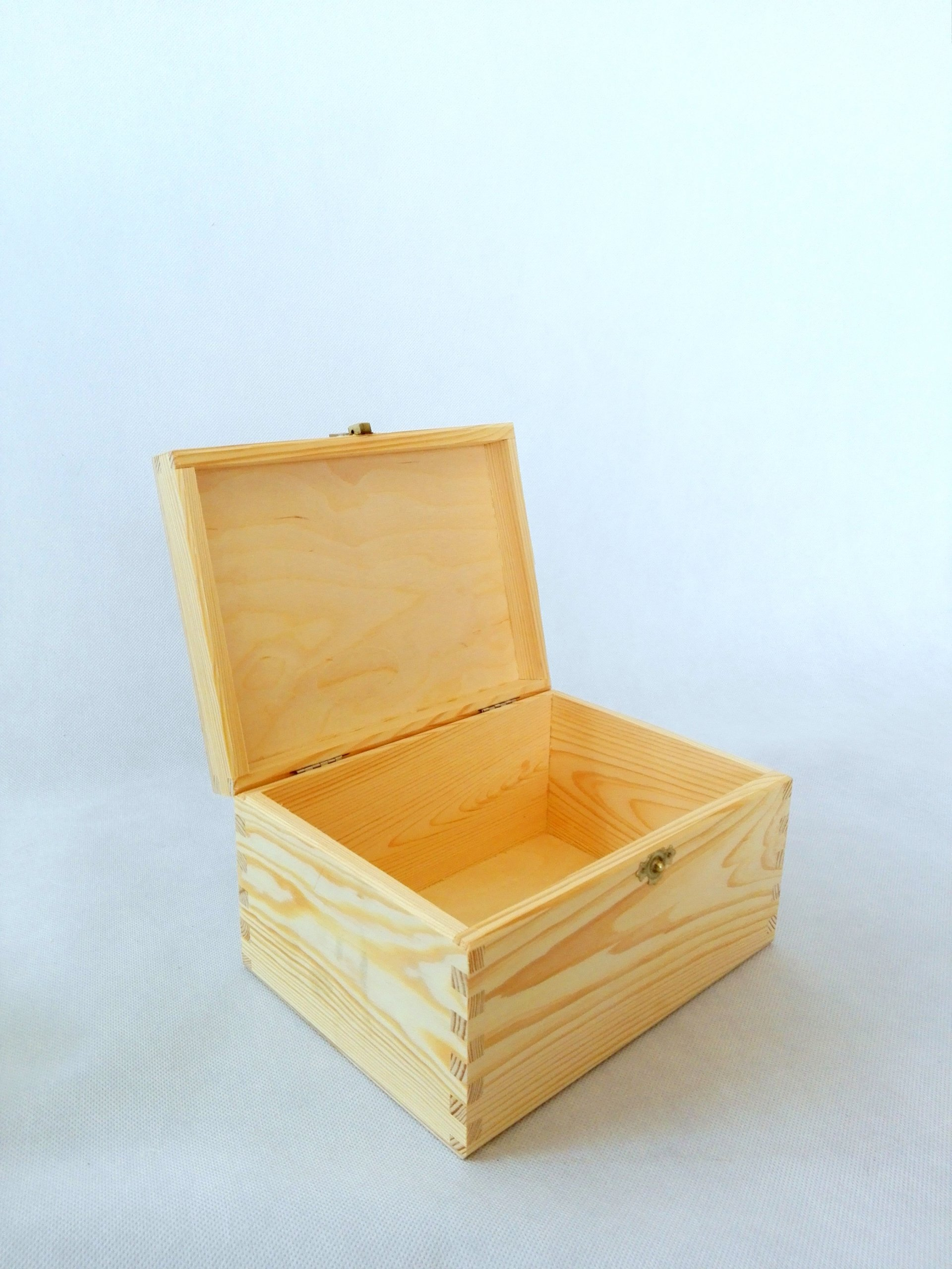 Wooden box with clasp