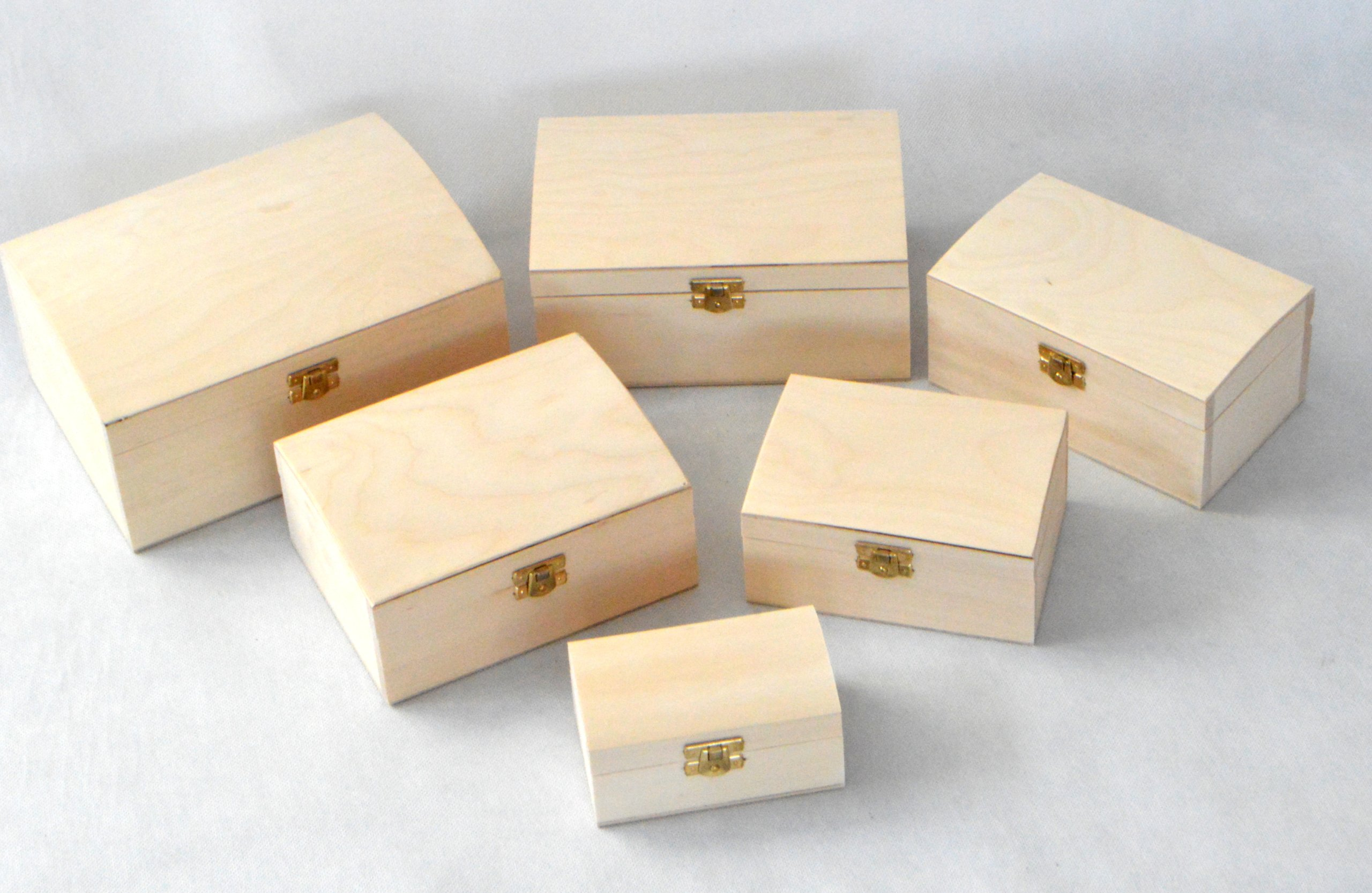 Set of wooden trunks