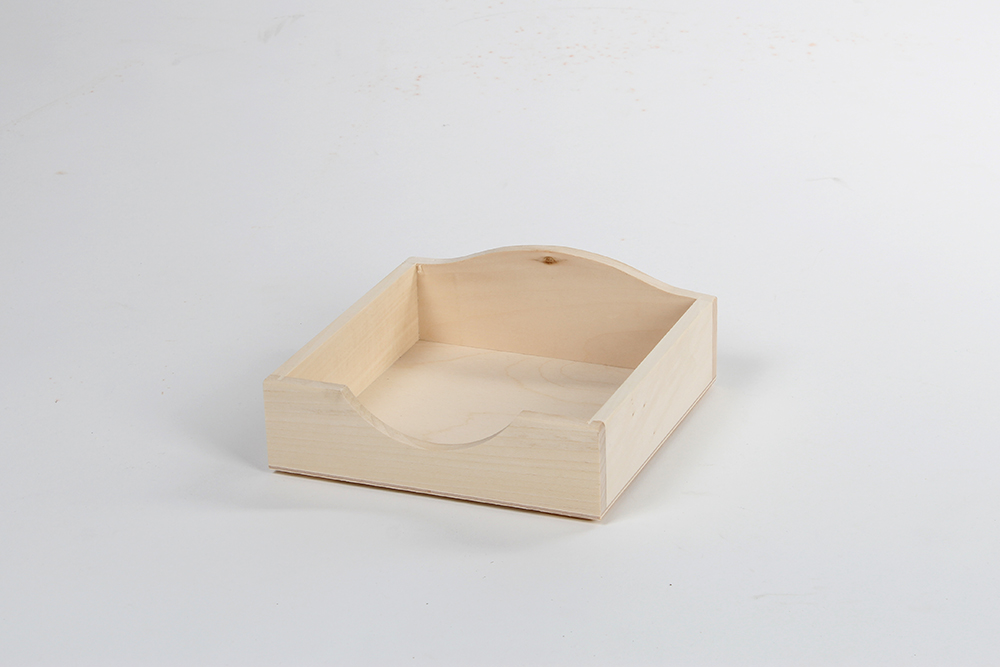 Wooden box for handkerchiefs CH1
